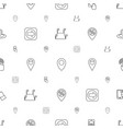 point icons pattern seamless white background vector image vector image