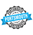 portsmouth round ribbon seal vector image vector image
