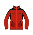 Red sweatshirt with a zipper icon flat style vector image vector image