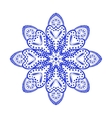 Round blue floral ornament vector image