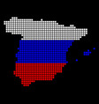 russia colors dot spain map vector image vector image