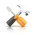 Screwdriver and hammer vector | Price: 1 Credit (USD $1)