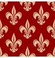 Seamless victorian royal fleur-de-lis pattern vector image vector image