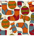 seamless winter Christmas pattern vector image vector image