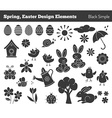 Set of hand drawn Easter design elements vector image