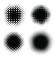 set of raster circles with moire vector image