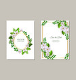 set of tender romantic floral vector image vector image