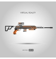 Sniper rifle Gun for virtual reality system vector image vector image