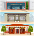 Storefronts collection vector image