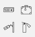 travel icons set collection of airport card vector image vector image