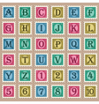 Vintage Alphabet Stamps vector image vector image