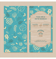 wedding invitation blue vector image vector image