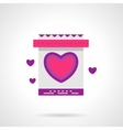 Wedding invitation bright flat icon vector image