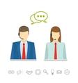 Call center avatars vector image