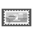 Postage stamp icon gray monochrome style vector image