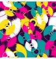 Vinyl retro seamless pattern vector image