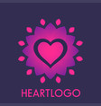 heart with flower logo element vector image