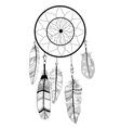 Native american indian dream catcher vector image