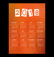 2018 simple business wall calendar with low