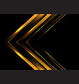 abstract gold arrow direction on black luxury