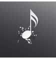 Abstract musical background vector image vector image