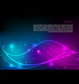 abstract shining background in blue and violet vector image vector image