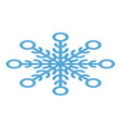 abstract snowflake icon isometric style vector image vector image