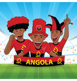 angola flag soccer fans or football supporter vector image
