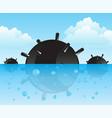 bomb in ocean vector image vector image