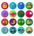 business art ecology and other web icon in flat vector image vector image