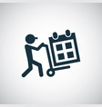 calendar delivery icon for web and ui on white vector image vector image