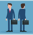cartoon young businessmen vector image