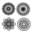 circle lace patterns design elements in black vector image