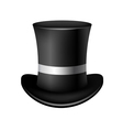 Classic cylinder hat on a white background vector image vector image