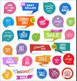 collection colorful modern badges and labels 7 vector image vector image