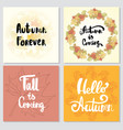 collection of autumn other typography flyer vector image vector image