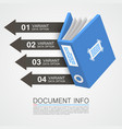 document info art tape color vector image vector image