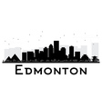 Edmonton City skyline black and white silhouette vector image vector image