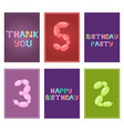 english balloon colorful birthday cards vector image