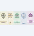 exquisite set design templates for label and vector image