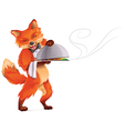 fox waiter vector image