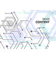 geometric abstract background with hexagons vector image vector image