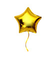 gold star helium balloon isolated on white vector image vector image
