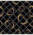 Golden grunge hearts seamless pattern vector image vector image