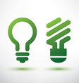 green eco light bulb icons set low energy concept vector image vector image