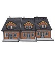 Group houses vector image vector image
