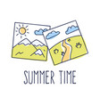 hand drawn a gallery picture and text summer vector image