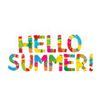 hello summer color rainbow abstract vector image vector image