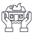 home insuarance line icon sig vector image