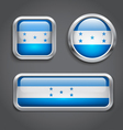 Honduras flag glass buttons vector image vector image